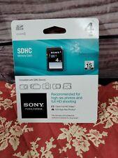 Sony SDHC Memory Card 4GB CLASS 4