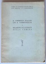 PRL) 1956 BOOK LIBRO LIVRE CAMERA COMMERCIO ITALIANA GRAN BRETAGNA COMMONWEALTH
