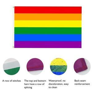 LGBT Rainbow Gay Pride Festival Diversity 5ft x 3ft Flag Lesbian Parade Flag