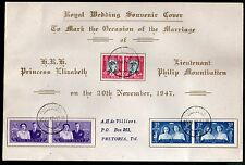 South Africa 1947 Visit of the British Royal Family QE II Sc 103-5 FDC # 15145