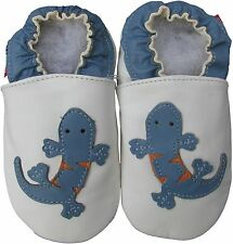 shoeszoo gecko white 6-12m S soft sole leather baby shoes
