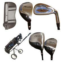 RIVAL Komplettset Golfschläger, Golfset Graphit, inkl. TROLLEY, RIVAL-CART-GG
