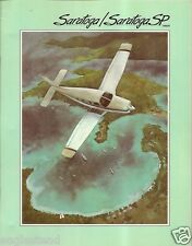 Brochure - Piper - Saratoga - including Turbo SP - 1986 (B402)