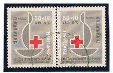 THAILAND 1963 Red Cross (Pair) FU