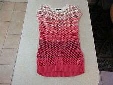 Women's DOROTHY PERKINS Size 10 UK/AU Knit Mini Dress Red / White ExCon Crochet