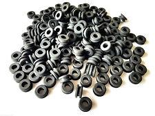 "Lot of 100 Rubber Grommets 1/4"" Inside Diameter- Fits 3/8"" Panel Holes"