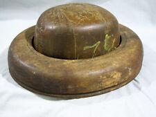 Antique 2 PIECE WOOD HAT BLOCK - 7 1/2
