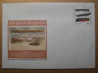 BRD Ganzsache Sonderumschlag USo 17** 100 Jahre Zeppelin - Luftfahrt