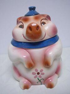 RARE VINTAGE SIERRA VISTA CALIFORNIA POTTERY PIG COOKIE JAR