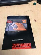 Super NES Mouse Instruction Manual Super Nintendo NO GAME