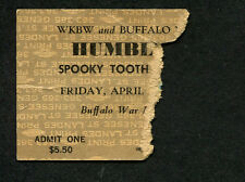 1973 Humble Pie Spooky Tooth Concert Ticket Stub Buffalo 30 Days In The Hole