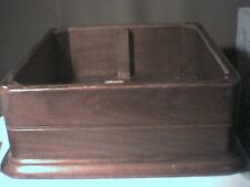 "Vintage Antique wood open-top box 3-ply plywood fir hardwood 16"" x 14"" x4"" high"