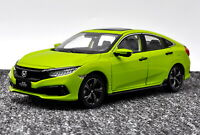 1/18 Scale Honda CIVIC 2019 Green Diecast Car Model Toy Collection Gift NIB
