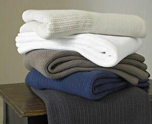 Extra Soft Lightweight 100% Cotton Chester Cellular Blanket ( 230 x 230 cm)