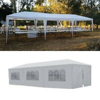 Outdoor 10'x30' White Canopy Party Tent Wedding Gazebo Cater Events 8 Sidewalls