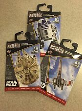 Set of 3 Star Wars MicroKites Millennium Falcon, R2-D2, X-Wing