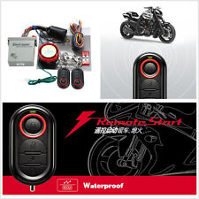 9-16V Motorcycle ATV Remote Engine Start Keyless Driving Anti-theft Alarm System