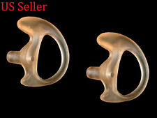 GEL EAR MOLD INSERTS FOR ACOUSTIC TUBE - 2 LEFT LARGE - 2WAY RADIO EARTIPS