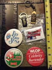 Budweiser Old Style Beer Bombay Dry Gin lot Minnie Minoso personal collection