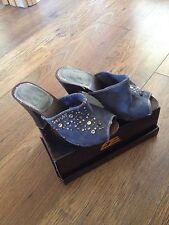 Replay Gorgeous Denim Sandals Size:4 Eu:37