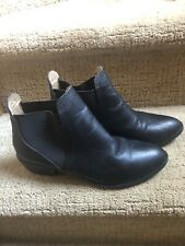 Nordstrom Splendid Textured Black Leather Booties 7.5