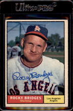 Rocky Bridges 1961 Topps 508 Los Angeles Angels Autographed Signed Card DECEASED