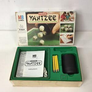 Milton Bradley Original Yahtzee 5-Dice Skill Game Complete #417