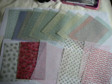 JOB LOT 20 A4 sheets Assorted HEAVYWEIGHT Floral Vellum NEW Craft Clearout  FREE