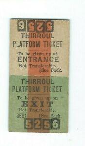 Old THIRROUL Platform Ticket