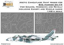 Arctic Camo + Canopy & Wheels Paint Masks for BAE Harrier Gr.7/9 1/48 DN Models