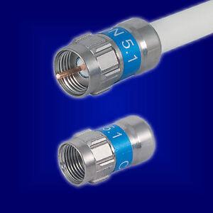 Cabelcon 5.1 Self Install 10x F Stecker 7,0 mm geeignet Kathrein LCD 111a+ 115a+