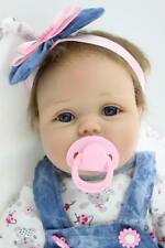 45 cm Real Life Mädchen Silikon Vinyl reborn Baby puppe Kind Weihnachtsgeschenk