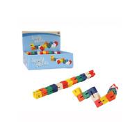 Kids Twist and Lock Wooden Blocks Mini Puzzle Twisty Fidget Sensory Toy Keycraft