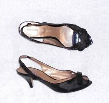 BRUNI PREMI escarpins sandales satin noir P 38 TBE