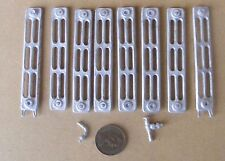 1:12 Scale Dolls House Miniature 8 Section Non Working White Metal Radiator Kit