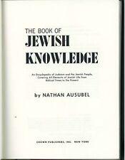 The Book Of Jewish Knowledge 1964 Vintage Religious Book Judaism Judaica Jews