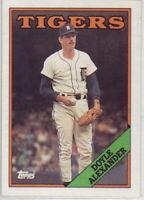 1988 Topps Baseball Detroit Tigers Team Set
