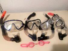Scuba Dive Bundle Mixed Lot Of Snorkels, Masks, Goggles