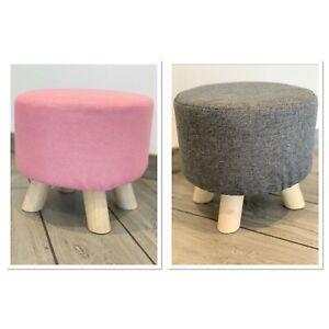 Kids Footstool Seat Nursery Playroom Bedroom Strong Durable Contemporary