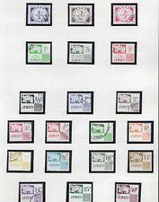 UK Jersey 1969 & 1991 postage due sets sg D1-20 on album page CV £40+
