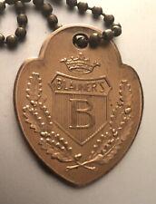 Charge Coin Brass Tag: BLAUNER'S;  Philadelphia Dept Store; Blauners; Blauner
