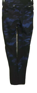 NWT IVY PARK Blue/BLK Camouflage Athletic Full Length Leggings Size Small