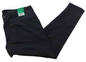 Danskin Women's Medium Legging Black Athletic Stretch 7/8 Pockets High Rise