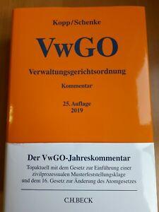 VwGO Verwaltungsgerichtsordnung - Kommentarg / 25. Auflage 2019 - Kopp/Schenke
