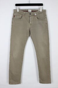 DONDUP Men's W31 L31 Stretchy Grey Slim Fit Chino Trousers 34335-GS