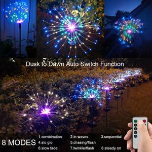 2X Solar Powered Starburst Firework Lights Garden Plant Path Fairy Xmas Lamp AU