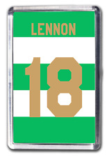 Neil Lennon Celtic Inspired Number 18 Football Shirt Fridge Magnet