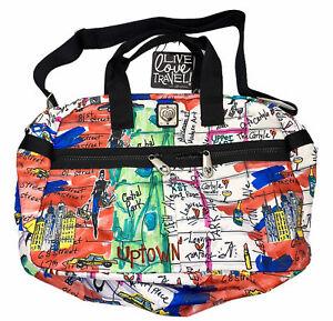 NWT Brighton Jetsetter Duffel Manhattan Print Travel Overnight Carry On Bag
