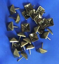 DECORATIVE UPHOLSTERY CRAFT NAILS STUDS TACKS PIN SQUARE ANTIQUE BRASS QTY 50