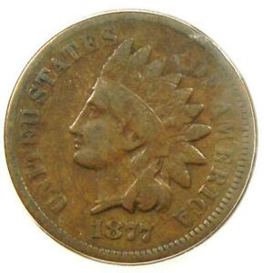 1877 Indian Cent 1C - Certified ICG VG8 Details - Rare Key Date Certified Penny!